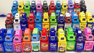 Тачки 3 Машинки Грузовики Найди свой Трейлер Игрушки Дисней Учим Цвета