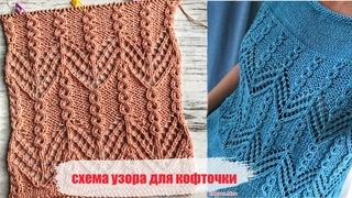 Шикарная идея для вязания кофточки!)