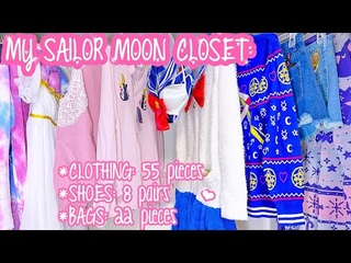 Look Inside My Sailor Moon Closet: Lingerie, Hoodies, Dresses, Shorts, Heels, Boots, Handbags