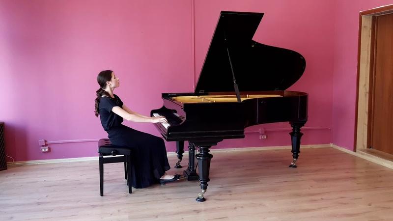 Bykova Elizaveta persorms Wolfgang Amadeus Mozart Sonata C dur KV 309 p 1