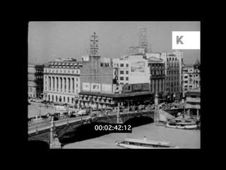 1940s Manila, Philippines, Jones Bridge, San Sebastian Church, 16mm