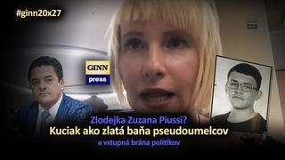 Zlodejka Zuzana Piussi? Kuciak je zlatá baňa pseudoumelcov a vstupná brána politikov! #ginn20x27