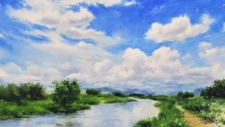 푸른 여름 / Blue summer [수채화/Watercolor]