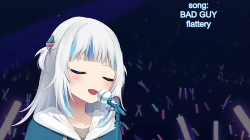 Gawr Gura sings Hajimete No Chuu from Kiteretsu Daihyakka Platina Jazz cover version