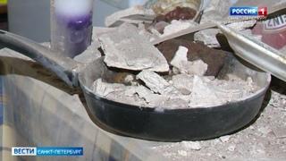 На Петроградской стороне рухнул потолок в коммунальной квартире