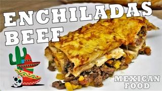 ENCHILADAS with corn tortillas :: How To Make Enchiladas :: The BEST Enchiladas Recipe Video [SUB]