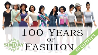 The Sims 4: Bella Goth Tries 100 Years of Fashion Trends (No CC)