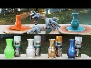 Акриловые декоративные и дизайнерские эмали KUDO - Аэрозольная краска в баллончиках