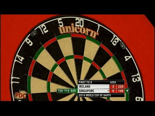 Ireland vs Singapore (PDC World Cup of Darts 2014 / First Round)