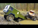 Радиоуправляемые модели устроили гонки по грязи - Грузовик МАН 6х6 и Аксиал Врайт