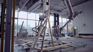 Швейцарские инженеры научили роботов строительству каркасов зданий