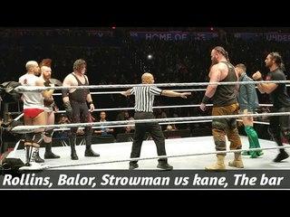 [WBSOFG] Seth Rollins & Finn balor & Braun strowman vs Kane & The Bar Live event match   WWE Okc