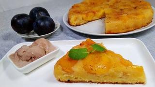 Потрясающий Сливовый Пирог Перевёртыш. Безумно вкусный. Простейший Пирог со Сливами