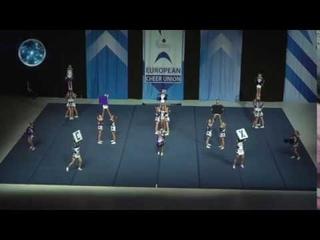 Cheerleading .Junior Cheer All Girl Elite Sweden Purple Clique.