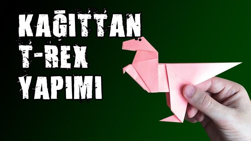 Kağıttan Dinazor Yapımı Paper T rex