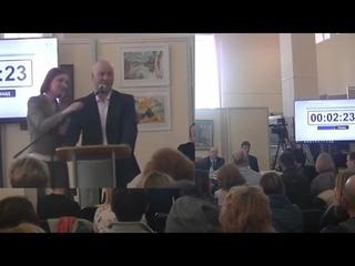 Общественные слушания в Клину (). Вопрос про аэрозоль.