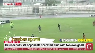 Defender assists opponents spank his club with two own goals