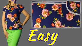 😲 Wow 🔥 Easy blouse model for beginners. 👍 Very helpful sewing tips. Easy sewing projects.