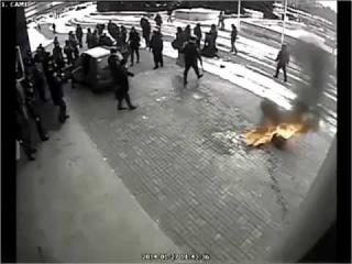 Попытка поджога мэрии Кривого Рога.