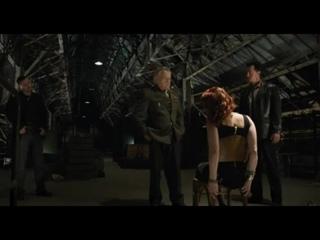 Scarlett Johanson Black Widow tied up