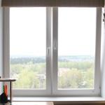 Двухстворчатое окно от