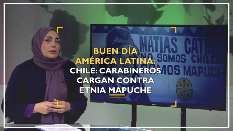Buen día América Latina Chile carabineros cargan contra etnia mapuche