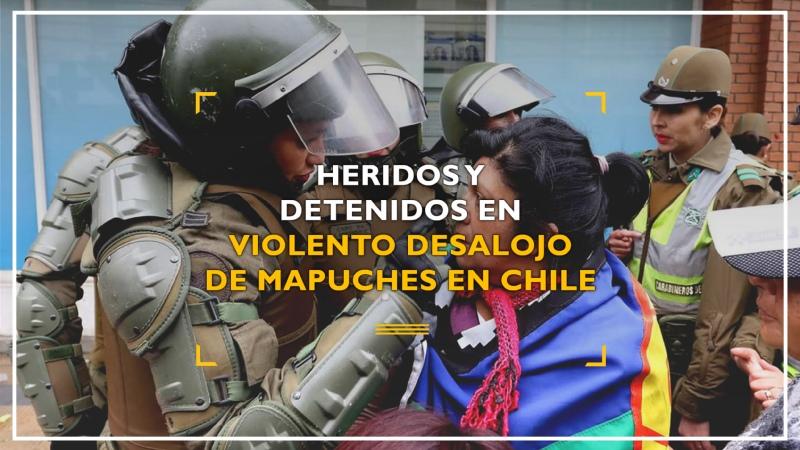 Heridos y detenidos en violento desalojo de mapuches en Chile