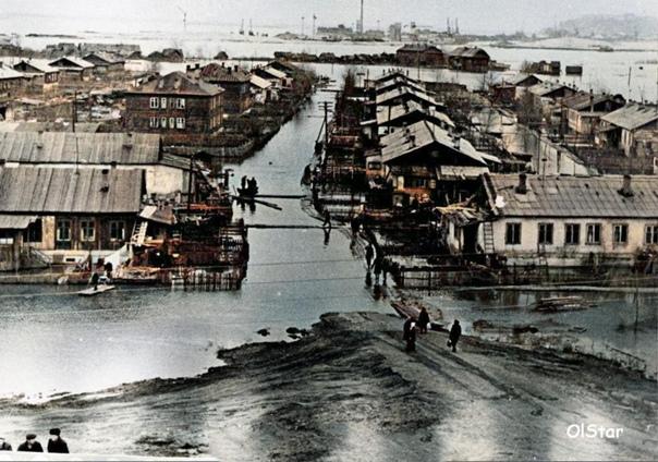 Жилые постройки у Борского моста1965-1970...