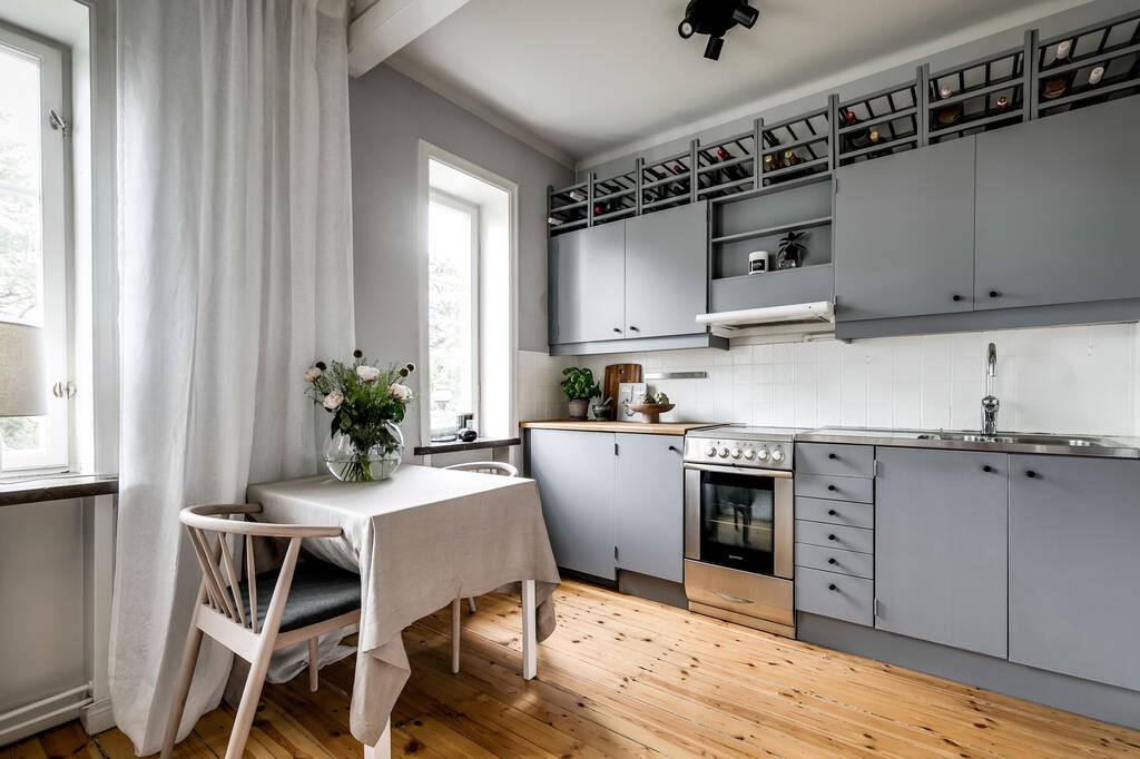 Интерьер шведской квартиры-студии 24 кв.