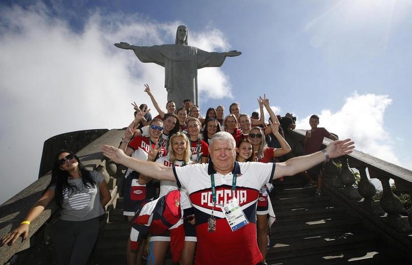 Евгений Трефилов и его команда на победной Олимпиаде в Рио