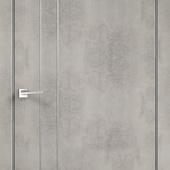Дверное полотно TECHNO М2  вертикальных молдинга Экошпон с замком 1895 и алюминиевой кромкой Муар св