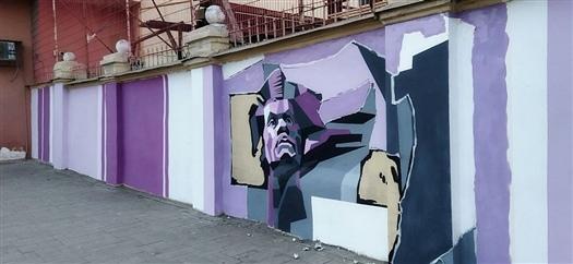 Уличные художники украсят стену Самарской ГРЭСГруппа улич...