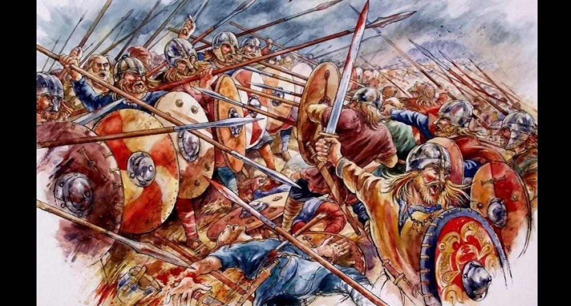 Бой англов с викингами