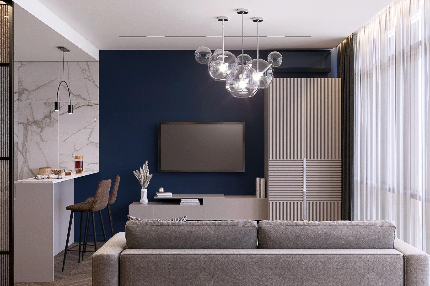 Проект квартиры-студии 54 кв.