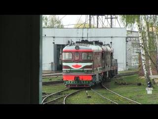 Тепловоз ТЭП60-0750 в депо Витебск / TEP60-0750 at Vitebsk depot