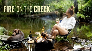 CREEK CAMPING in AUSTRALIAN BUSH  [호주캠핑] with our DOG, campfire food - Sounds of Camping Ep7