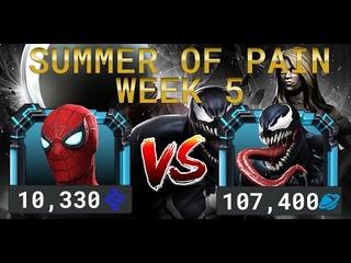 Лето Боли Неделя 5 — Человек-Паук (Усиления Старка) vs Веном | Marvel Contest of Champions