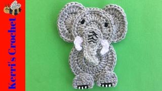 Crochet Easy Elephant Tutorial - Crochet Applique Tutorial