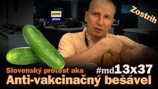 Slovenský protest aka Anti-vakcinačný bešável v parlamente (zostrih) #md13x37