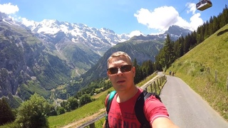 Долина 72-х водопадов, Интерлакен Швейцария. #швейцария #фуникулер #горы #кемпер
